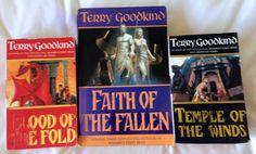 Job Lot Bulk Buy 3 TERRY GOODKIND Books PB Novels FAITH OF THE FALLEN BLOOD FOLD   00.99