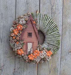 Erdészlak - őszi ajtódísz, Dekoráció, Otthon, lakberendezés, Meska