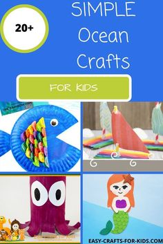 These ocean crafts for kids feature everything you would expect to find in the sea! Crafts feature crab, dolphins, squid, octopus and much Crab Crafts, Octopus Crafts, Seashell Crafts, Beach Crafts For Kids, Easy Toddler Crafts, Paper Roll Crafts, Paper Crafts For Kids, Dolphin Craft, Puppet Crafts