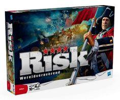 Risk Bordspel  Risk is een klassieker onder de strategiespellen en is een van de meest gespeelde bordspellen ter wereld. In het bordspel Risk beheers je legers verdedig en verover je gebieden. Bereik jij je militaire doelen eerder dan je tegenstanders? Het ultieme doel is om de wereld te veroveren. Een spannender spel bestaat niet. Voor 3 tot 5 spelers. Vanaf 12 jaar.  EUR 51.99  Meer informatie