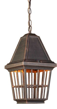 One Light Rust Hanging Lantern : AC8965RU | Southern Lights