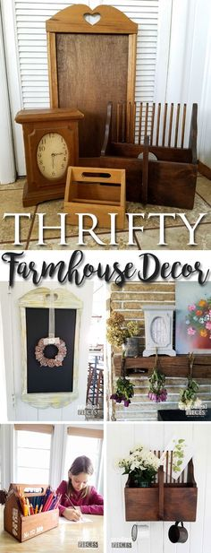Make Your House a Home with Thrifty Farmhouse Decor as shown by Prodigal Pieces | http://prodigalpieces.com