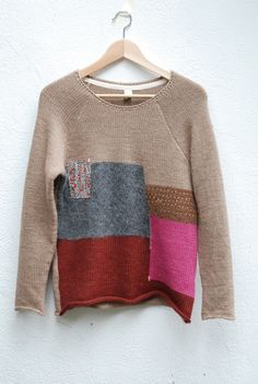 P R I M O E Z A: patchwork sweater - love