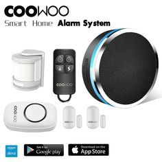 Coowoo Professional Wireless Smart Home Security Alarm System for sale online Smart Home Alarm System, Home Security Alarm System, Wireless Home Security Systems, Smart Home Security, Safety And Security, Security Camera, Smart Home Control, App Control, Alexa Compatible Devices