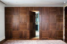 hidden door in wall paneling Door Design, Wall Design, House Design, Spa Design, Architecture Details, Interior Architecture, Floor To Ceiling Wardrobes, Invisible Doors, Veneer Panels