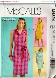 McCall's M4824 Woman's Day Collection Shirtwaist by DejaVuPatterns