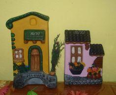 Mis Artesanias: Ceramica Bird Houses Painted, Party Centerpieces, Galveston, Decoupage, Polymer Clay, Lunch Box, Ceramics, Frame, Minis