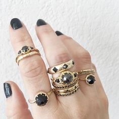 black and gold by Lauren Wolf Jewelry // ESQUELETO