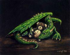 ~ Robert Wayt Smith Dragon Hatchling Egg Baby Babies Cute Funny Humor Fantasy Myth Mythical Mystical Legend Dragons Wings Sword Sorcery Magic Art Fairy Maiden Whimsy: