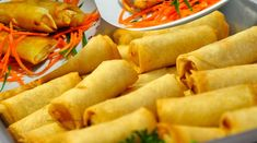 Thai vegetable spring rolls - Fresh AND Tasty. Use freshest veggies to boost flavor of this tasty treat! A crisp starter or snack that promises not to disspoint. Serve hot! -  View Slideshow of steps
