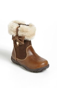 Laura Ashley 'Bow' Boot (Walker & Toddler) available at #Nordstrom