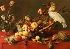 Frans Snyders 1579–1657 Flemish,A Still Life with Fruit and a Cockatoo