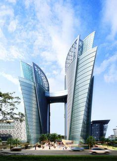 Very luxury architecture building in Meydan City - Dubai