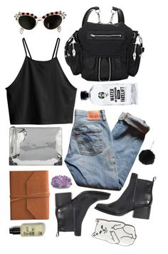 """""""all about the H20"""" by alexandrazel ❤ liked on Polyvore featuring Eccolo, Levi's, H&M, Elsa Schiaparelli, Topshop, Aquaovo, Alexander Wang, McQ by Alexander McQueen, AlexanderMcQueen and AlexanderWang"""