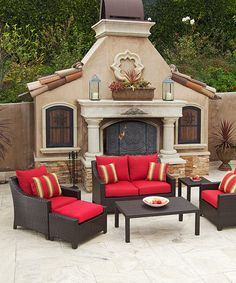 Another great find on #zulily! Cantina Red Deco Six-Piece Seating Set #zulilyfinds