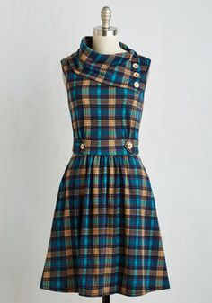 Need a stylist, unique plaid dress? Check out ModCloth's selection of checkered dresses, flannel dresses and more! Shop for your perfect plaid dress today. Stylish Dresses, Women's Fashion Dresses, Casual Dresses, Fall Dresses, Cute Dresses, Girls Dresses, Retro Vintage Dresses, Vintage Mode, Vintage Inspired Dresses