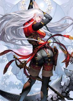 Images for anime art anime art kunst и mädels Fantasy Girl, High Fantasy, Anime Fantasy, Medieval Fantasy, Character Concept, Character Art, Concept Art, Fantasy Characters, Female Characters