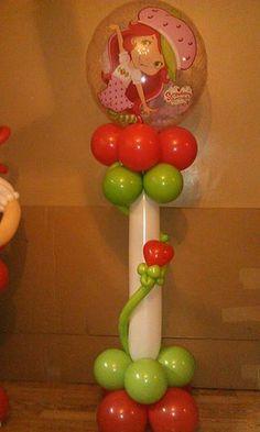 rosielloons Balloon Columns, Balloon Arch, Balloon Ideas, Girl Birthday, Birthday Parties, Balloon Stands, Ballon Decorations, Strawberry Shortcake Party, Balloon Animals