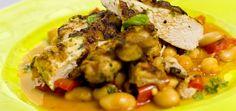 stekt kylling med lun bønnesalat