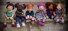 Natural Fiber art dolls by Mon Petit Frère