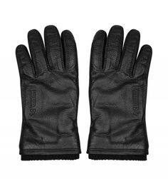 Ike By Ike Behar Black Leather Lined Touch Gloves Black Gloves, Leather Gloves, Cycling Gloves, Adrienne Vittadini, Wool Fabric, Skiing, Snowboarding, Black Leather, Sports