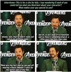 Oh, RDJ. I love you.
