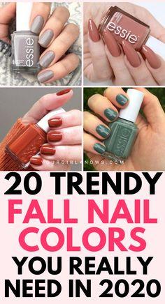 Cute Nail Colors, Dip Nail Colors, Color For Nails, Toe Nail Color, Pedicure Colors, Nail Polish Colors, Cute Nails For Fall, Fall Gel Nails, Fall Nail Polish