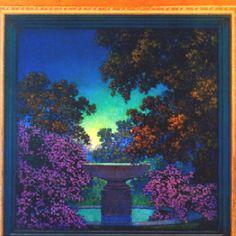 Maxfield Parrish. Blue Fountain.