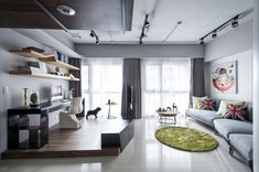 Apartment Design Idea - Divide Space By Slightly Elevating An Area. When…