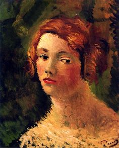 Portrait of a Woman with Red Hair Andre Derain - circa 1927-1928