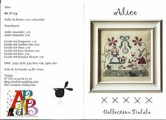 ****** TRalala Alice******* Cross Stitching, Cross Stitch Embroidery, Embroidery Patterns, Cross Stitch Patterns, Alice In Wonderland Cross Stitch, Art Rose, Stitch Character, Little Stitch, Le Point