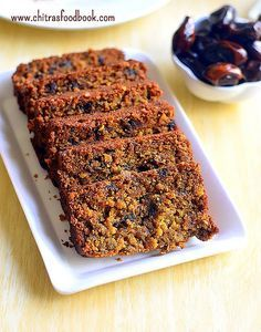Eggless dates cake recipe with whole wheat flour - No egg, no butter dates cake recipe