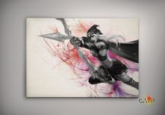 League of Legends LoL Ashe Watercolor illustrations Print Wall Art Poster Giclee Wall Decor Wall Hanging Modern Geek Multi Size n565 on Etsy, 33,91zł