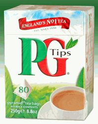 I hate coffee, so I drink hot tea instead.  This tea, PG Tips, is absolutely the best (and no, they're not paying me to say that. Heh!)