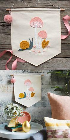 Diy felt banner template and tutorial diy & ideas with felt Felt Crafts Patterns, Felt Crafts Diy, Felt Diy, Easter Crafts, Sewing Crafts, Fall Crafts, Craft Tutorials, Craft Projects, Baby Kind