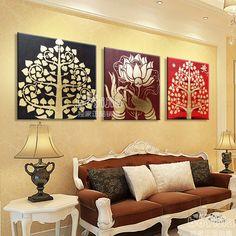 Lotus Painting, Knife Painting, Oil Painting On Canvas, Ganesha Painting, Buddha Painting, Clay Wall Art, Wood Wall Art, Tree Of Life Artwork, Buddha Wall Art