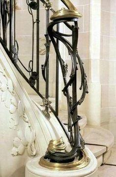 Rampe d'escalier signé Paul Charbonnier