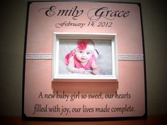 New Baby Personalized Picture Frame Gift poem by YourPictureStory, $65.00