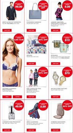 Georgine Saves » Blog Archive » Good Deal: Macy's ONE Day Sale + FREE Shipping on $25 Orders!