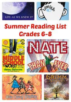 Summer reading book list 6th grade