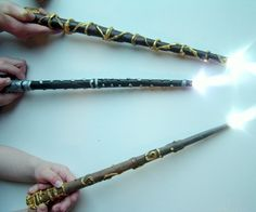 Nerd craft love: DIY Harry Potter Wizard Wands. Dig those LED light tips. Geeks forever rule.
