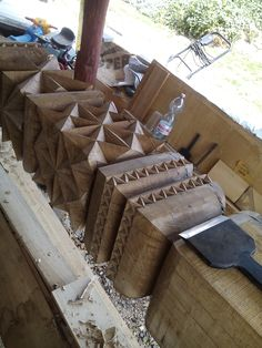 Wood Lathe, Woodcarving, Yarn Crafts, Firewood, Sculpting, Homes, Rustic, Interior Design, Architecture