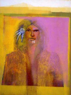 by Darcy Nicholas, NZ Maori Artist Modern Indian Art, Maori People, Maori Designs, New Zealand Art, Nz Art, Maori Art, Kiwiana, Vintage Art Prints, Figurative Art