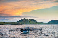 The Indonesian island of Komodo at sunset.  ✯ Bali Floating Leaf Eco-Retreat ✯ http://balifloatingleaf.com/ ✯