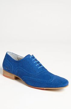 Moods of Norway Ullern Suede Wingtip, the perfect blue suede shoe Mens Shoes Boots, Suede Shoes, Sock Shoes, Men's Shoes, Shoe Boots, Dress Shoes, Blue Shoes, Crazy Shoes, Me Too Shoes