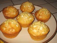 Muffins à la vanille, coeur fondant au chocolat blanc