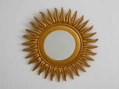G O R G E O U S   French Vintage golden Sunburst by GuidouxVintage