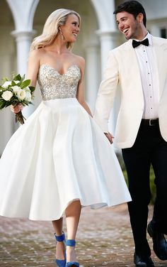 Puffy Short Wedding Gown