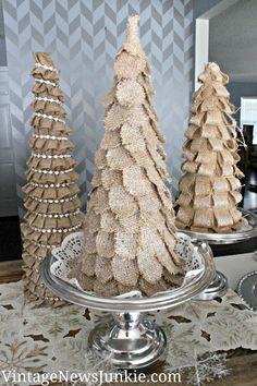 Sparkly Burlap Christmas Tree {Target Inspired}-vintage news junkie .com