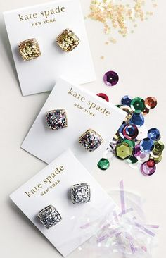 glittery earrings by Kate Spade http://rstyle.me/n/umftspdpe
